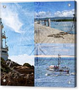 Beach Triptych 2 Acrylic Print
