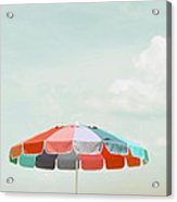 Beach Umbrella Acrylic Print by Elle Moss