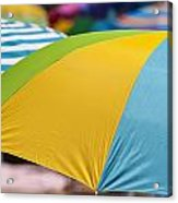Beach Umbrella Rainbow 1 Acrylic Print