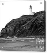 Beach View Of North Head Lighthouse Acrylic Print by Robert Bales