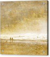 Beach Walk Square Acrylic Print