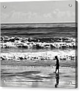 Beach Walker 30 Acrylic Print