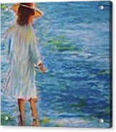 Beach Walker Acrylic Print