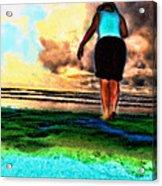 Beach Walking Acrylic Print