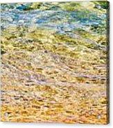 Beach Water Abstract Acrylic Print