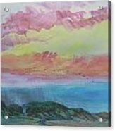 Beach Watercolor 2 Acrylic Print
