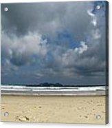 Beach With Gathering Storm Acrylic Print