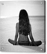 Beach Yoga Acrylic Print