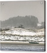 Beached Boat Winter Storm Acrylic Print