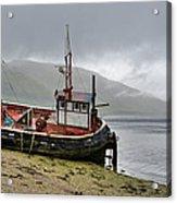 Beached Fishing Boat Acrylic Print