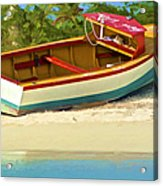 Beached Fishing Boat Of The Caribbean Acrylic Print