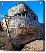 Beached Point Reyes Acrylic Print