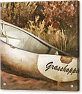Beached Rowboat Acrylic Print by Carol Leigh