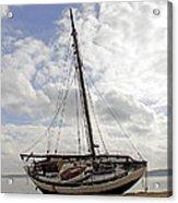 Beached Sailboat Acrylic Print