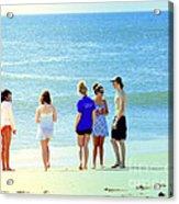 Beaches Of Point Pleasant Nj Acrylic Print