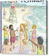 Venus On The Beach Acrylic Print