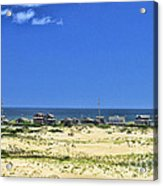 Beachouses As Seen From Jockey's Ridge State Park Acrylic Print