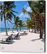 Beachy Belize Acrylic Print