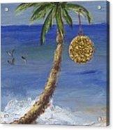 Beachy Christmas Acrylic Print