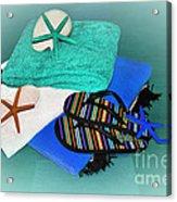 Beachy Things - Aqua Blue Acrylic Print