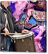 Beads And Feathers At Mardi Gras Acrylic Print