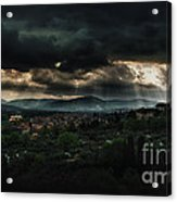 Beams Of Light Over Florence Acrylic Print