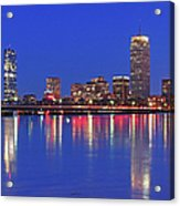 Beantown City Lights Acrylic Print