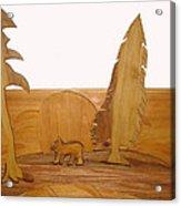 Bear Between Two Trees Acrylic Print