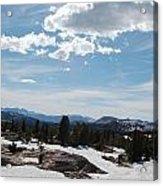 Beartooth Pass Clouds Acrylic Print