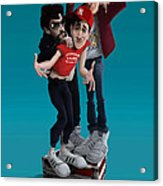 Beastie Boys_the New Style Acrylic Print by Nelson Dedos Garcia