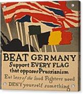 Beat Germany Acrylic Print by Adolph Treidler