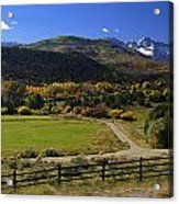 Beatiful Ranch Shot From The Highway Acrylic Print