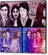 Rainbow Beatles Design Trio Acrylic Print