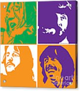 Beatles Vinil Cover Colors Project No.02 Acrylic Print
