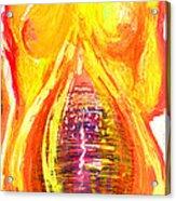 Beau Flambeau A Fire Girl Acrylic Print