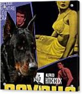 Beauceron Art Canvas Print - Psycho Movie Poster Acrylic Print