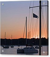 Beaufort Sc Sunset Acrylic Print