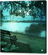 Beaufort South Carolina Surreal Ocean Inland Scene Acrylic Print by Kathy Fornal