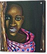 Beautiful African Girl Acrylic Print