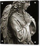 Beautiful Angel Praying Hands Christian Art Print Acrylic Print