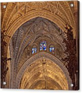 Beautiful Arches Of Seville Cathedral Acrylic Print by Viacheslav Savitskiy