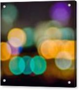 Beautiful Background On Dark Out Of Focus Lights During The Nig Acrylic Print