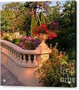 Beautiful Balustrade Fence In Halifax Public Gardens Acrylic Print