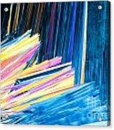 Beautiful Benzoic Acid  Microcrystals Abstract Art Acrylic Print