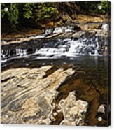 Beautiful Cascade In Western Ghats Karnataka India Acrylic Print