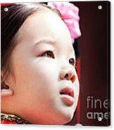 Beautiful Chinese Child Portrait Acrylic Print
