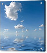 Beautiful Clouds And Sea Acrylic Print by Boon Mee