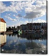 Beautiful Clouds Over Motlawa River - Gdansk Acrylic Print