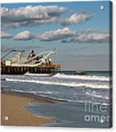 Beautiful Day At The Beach Acrylic Print by Sami Martin