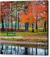 Beautiful Fall Foliage In New Hampshire Acrylic Print